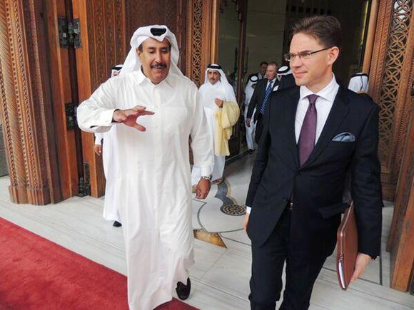 Jyrki+Katainen++Abdullah+bin+Khalifa+al-Thani+Qatar