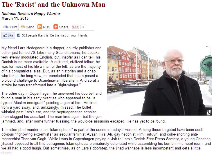 Steyn on Lars Hedegaard 15.3.2013