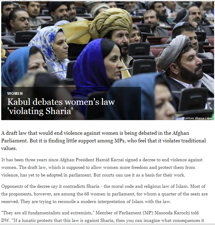 afghanistan parliament debates law ending violence against women 10.3.2013