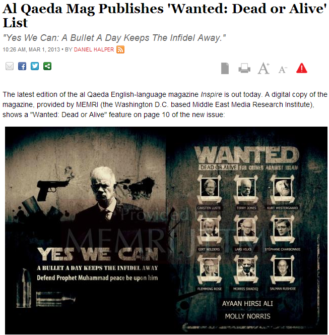 al-qaida hit list 2.3.2013