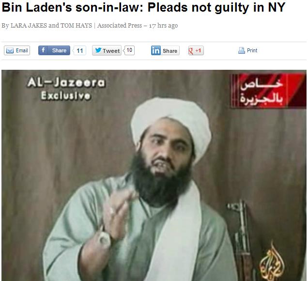 bin laden son in law pleads not guilty 9.3.2013