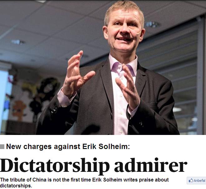 erik solheim loves dictatorship 13.3.2013