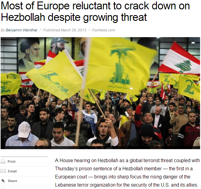 europe unwilling to crack down on the heznazis 31.3.2013