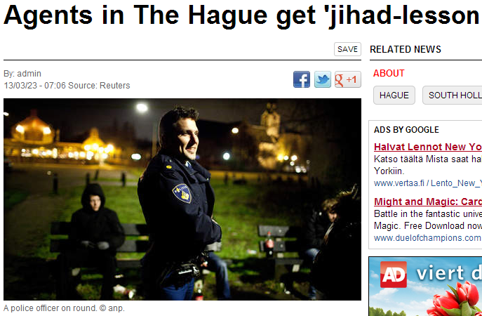hague agents get lesson on jihad 24.3.2013