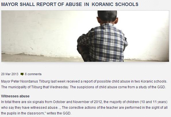 koran school abuse in netherlands 27.3.2013