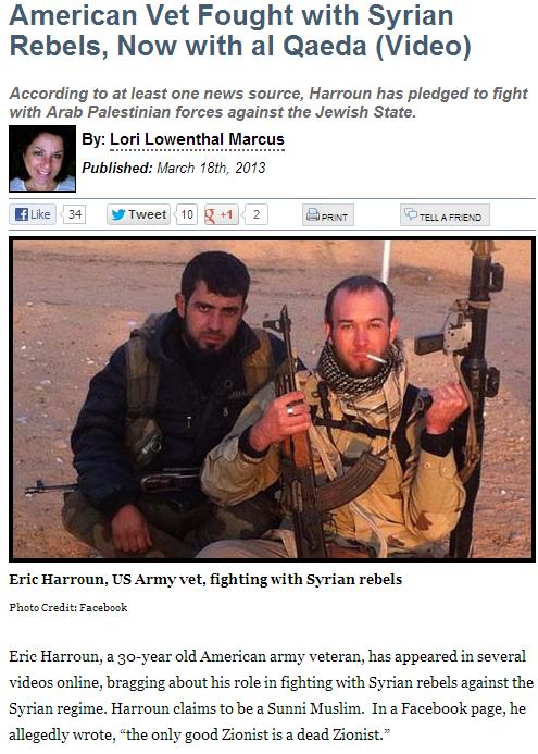 lori lowenthal marcus american jihadi in syria 18.3.2013