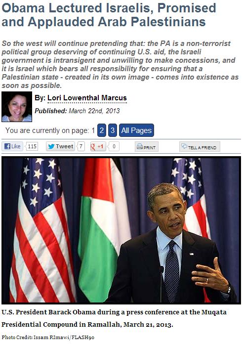 lori on obama dual speech in israel 23.2.2013