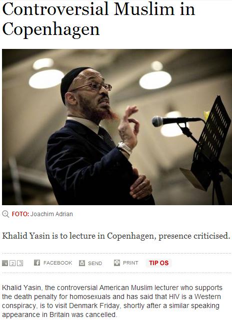 muslim fundamentalist speaker khalid yassin speaks in copenhagen 22.3.2013