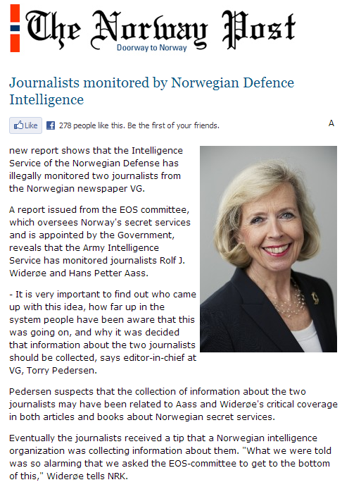 norway spies on its journalists 25.3.2013