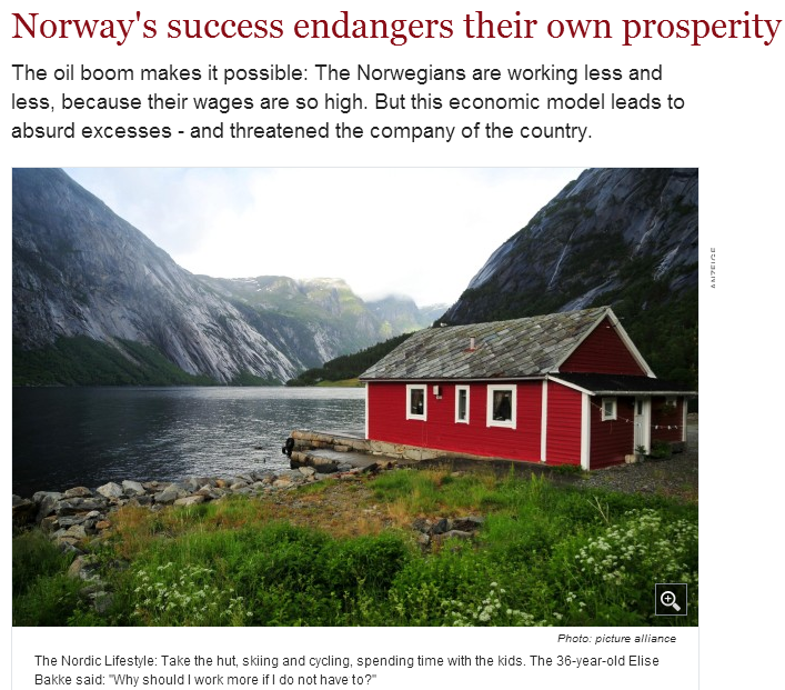 norwegian success story threatened by prosperity 27.3.2013