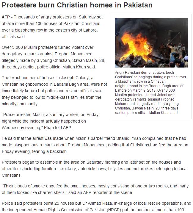 pakistan burning more christian homes 10.3.2013