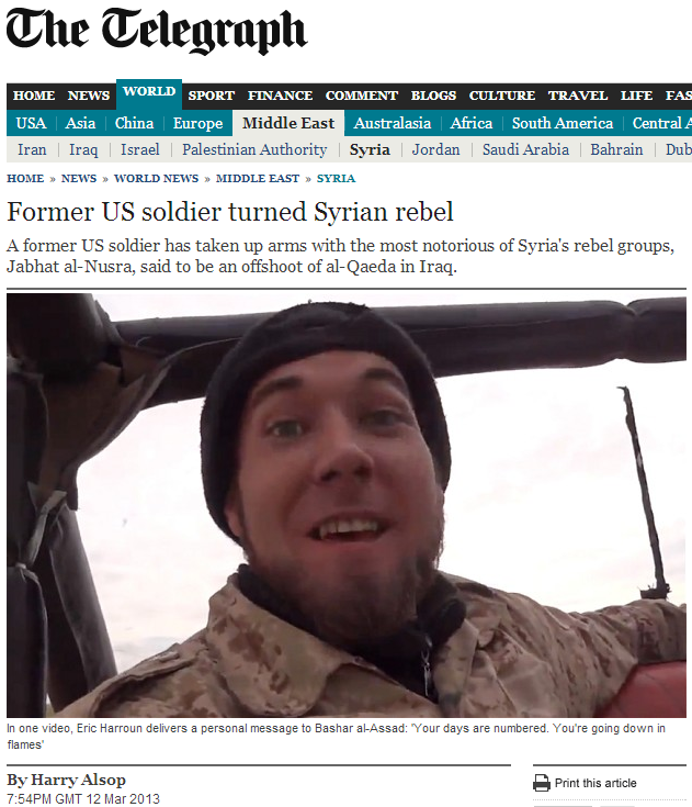us soldier joins jihad counterjihad broke it first 13.3.2013