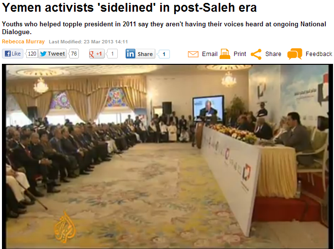 yemen activists sidelined in post-saleh era 25.3.2013