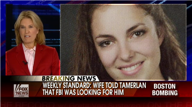 WIFE CONVERT TO TAMERLAN TSARNAEV GAVE HEADS UP TO BOTH BOMBERS 27.4.2103