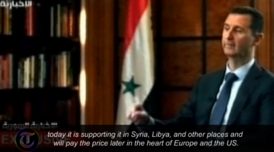 assad the westwill pay price later for backing al-qaida 18.4.2013