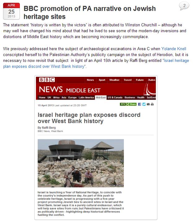 bbc promotes pali narrative 25.4.2013
