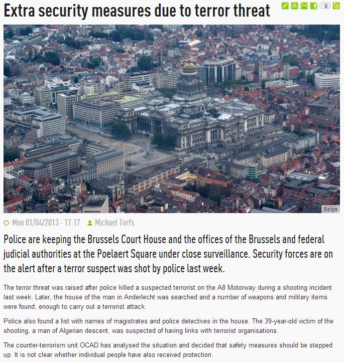 brussels terror alert 2.4.2013