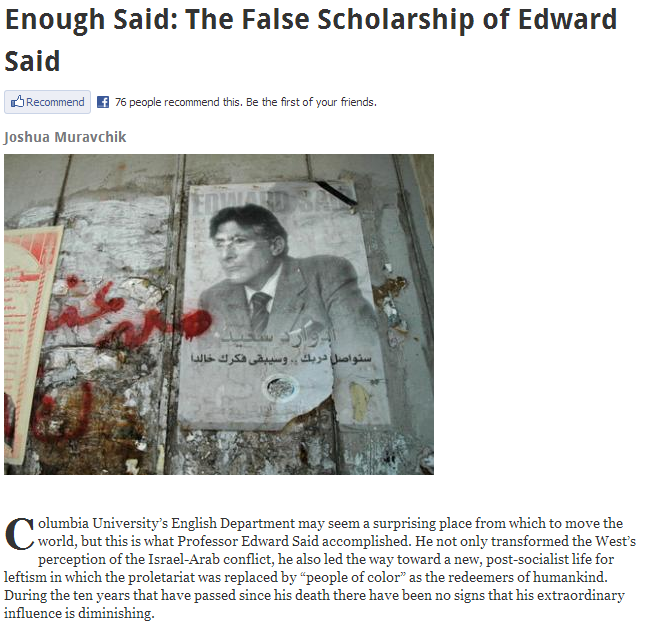 enough of edward Said 10.4.2013