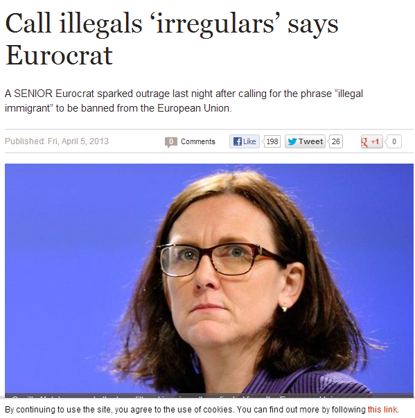 eurocrat demands change in terms for illegal immigrants 6.4.2013
