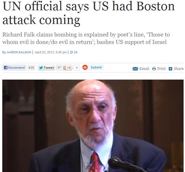 falk the anti-semite incites against boston survivors 23.4.2013
