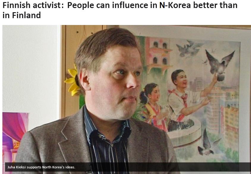 finnish activist supports n.korea 17.4.2013