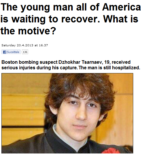 finnish media on boston bombers 21.4.2013