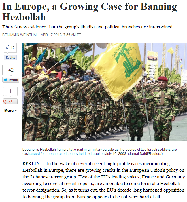growing case for banning heznazis in europe 17.4.2013