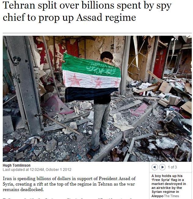 iran split of billions spent to prop up assad regime 8.4.2013