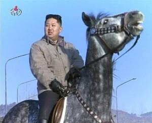 kim on horse