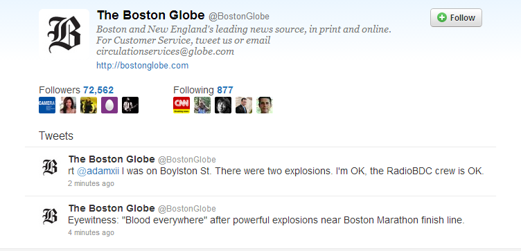 two explosions at boston marathon 15.4.2013