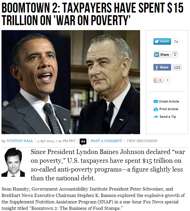 war on poverty boondoggle 6.4.2013