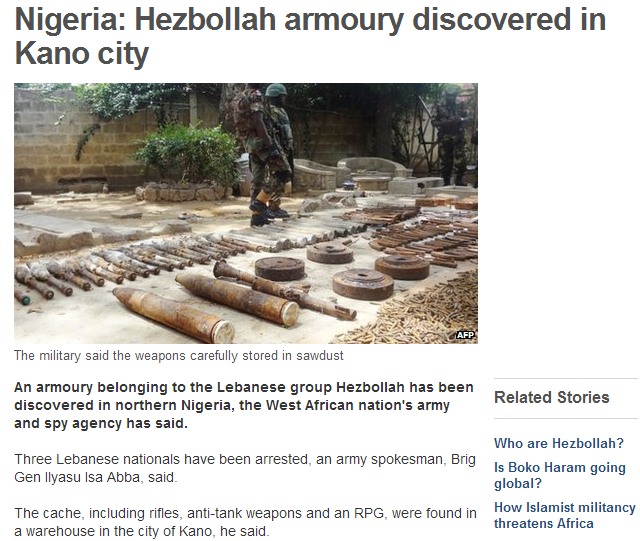 Heznazi armory discovered in nigeria 30.5.2013