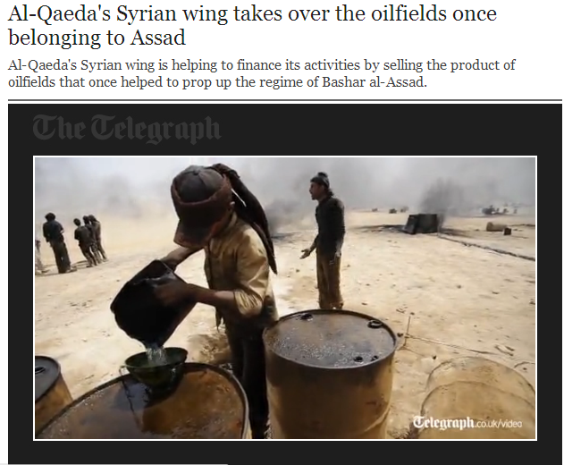 al-qaida now in charge of assad oil fields 19.5.2013