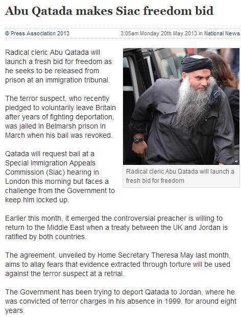 al qatada to make freedom bid once again 20.5.2013