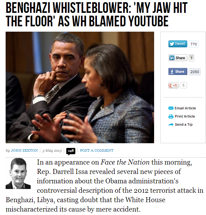 benghazi whistleblower aghast at WH spin on consulate attack 6.5.2013