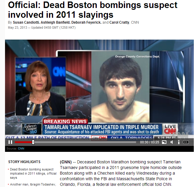 boston bomber involved in triple murder of jews 23.5.2013