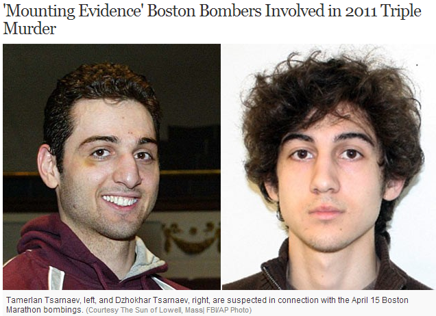 boston bombers tied to triple murders 11.5.2013