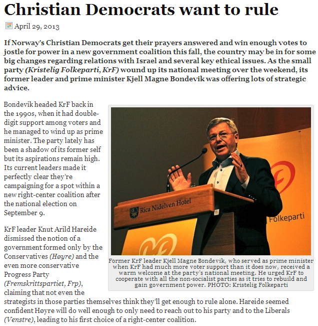 christian democrats want to realign relationship with israel in a more friendly way 1.5.2013