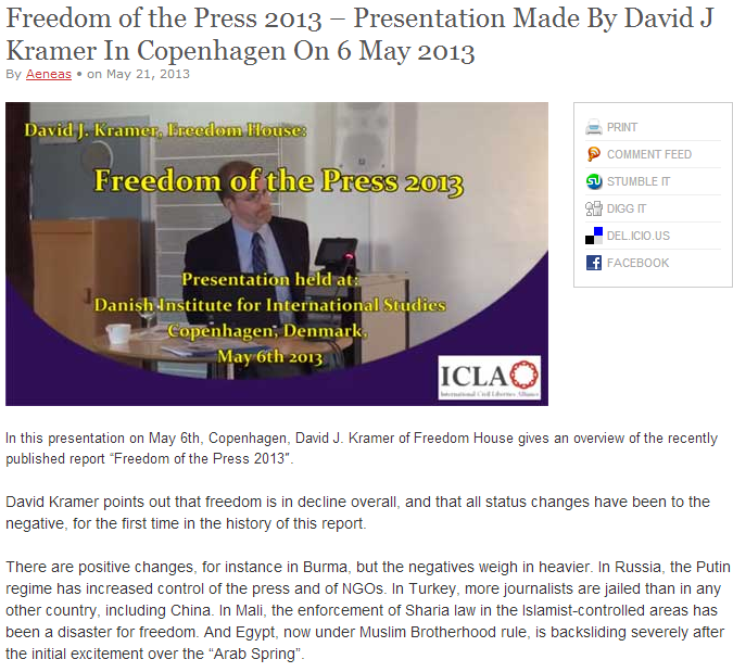 david kramer freedom of the press icla 22.5.2013