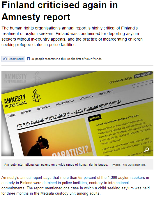 finnish amnesty condemns deportations of rejected asylum seekers 24.5.2013