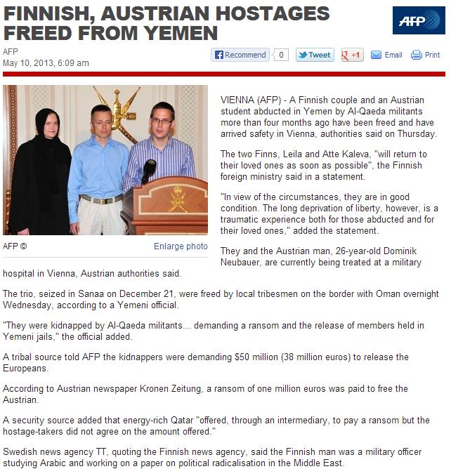 finns free from yemen 10.5.2013