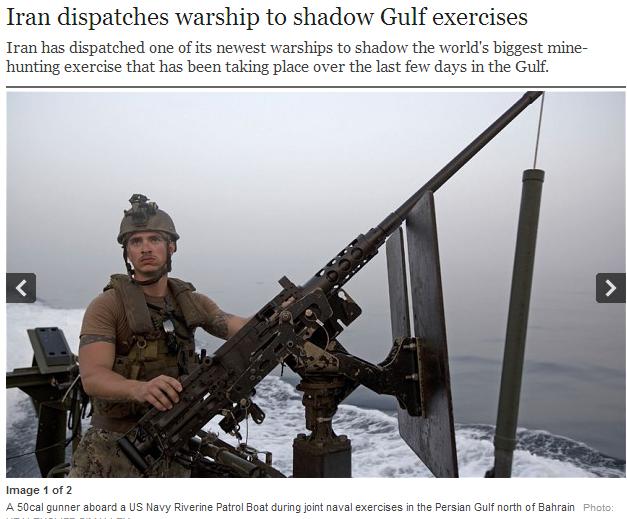 iran sends waarship to monitor gulf exercises 19.5.2013