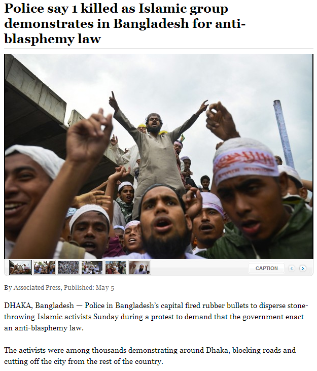 muslim fundamentalists demanding sharia law in bangladesh 6.5.2013
