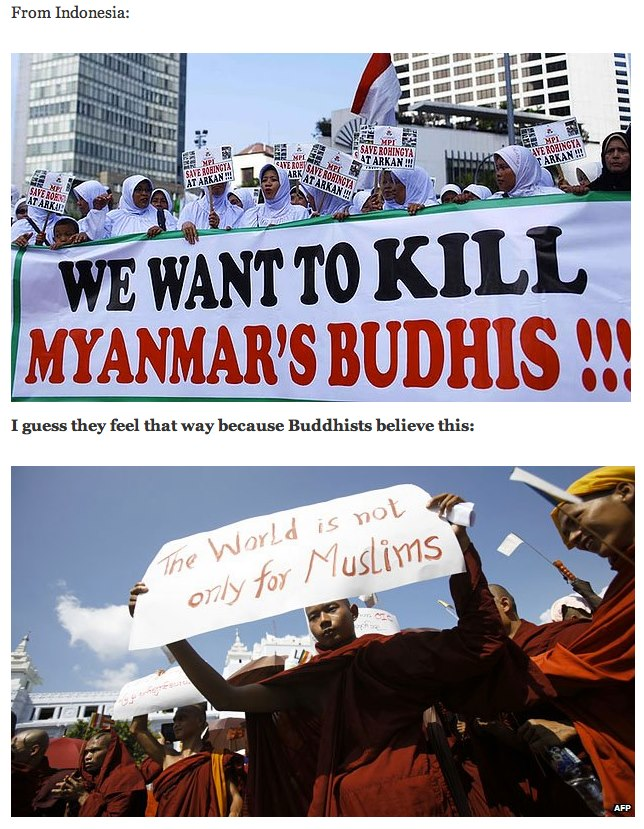 muslims at war with buddhists