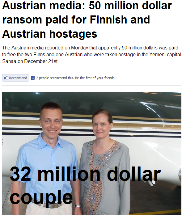 oman pays for finnish hostages 13.5.2013