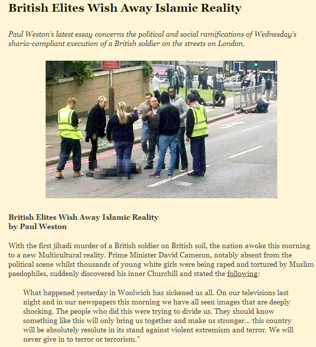 paul weston- british elites wish away islamic reality 25.5.2013
