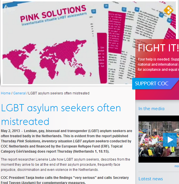 pink fight it-gays spat on in dutch asylum centers 5.5.2013