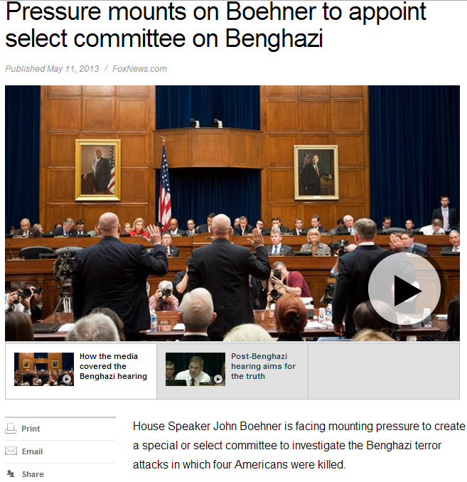 pressure mounts on boehner for special committee on benghazi 12.5.2013