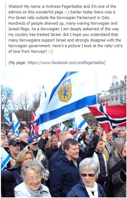 pro-israel rally in oslo 1.5.2013