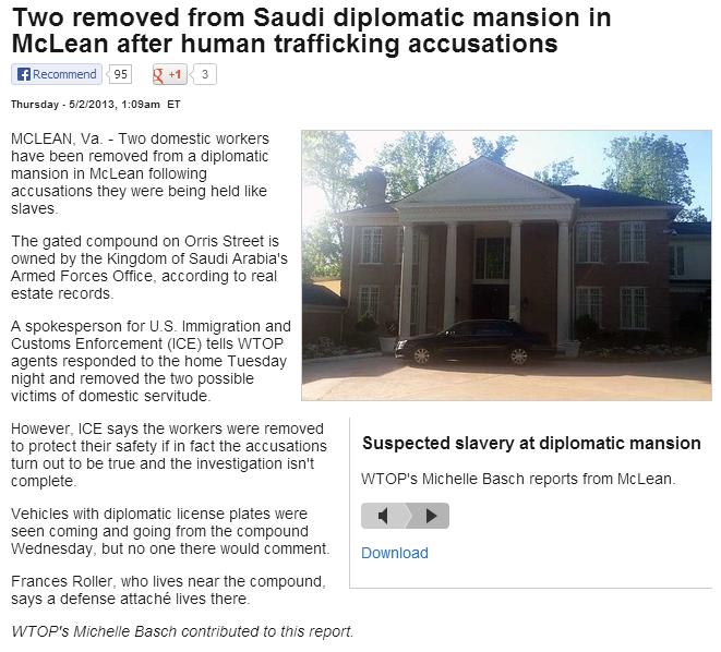 saudi slavery in virginia 2.5.2013